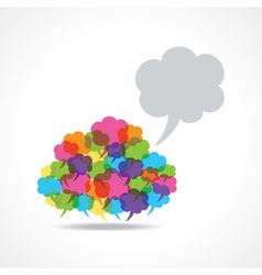 Big speech bubble made from small bubbles vector image