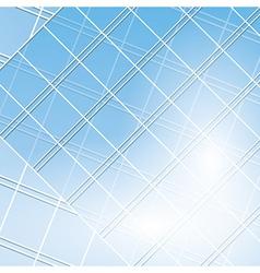 Blue windows on modern buildings vector