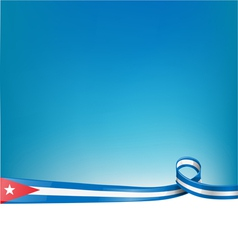 Cuba background flag vector