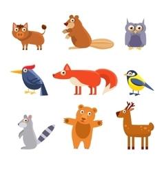 Cute wild forest animals vector