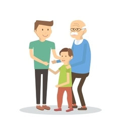 Father Son Grandfather vector image vector image