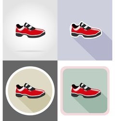 fitness flat icons 16 vector image