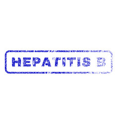 Hepatitis b rubber stamp vector