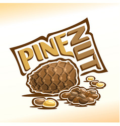 Logo for pine nuts vector