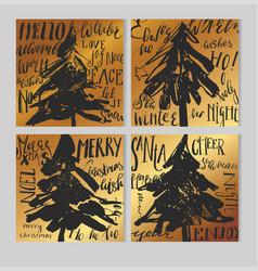 merry christmas retro hipster boho card template vector image vector image