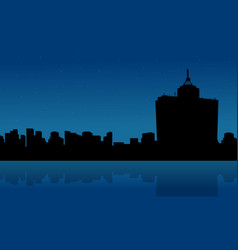Mexico city skyline scenery silhouettes style vector