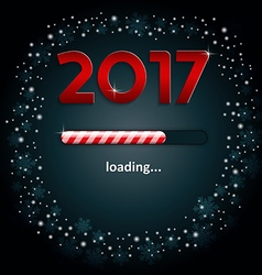 Numbers 2017 and a loading bar vector