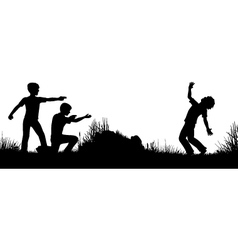 Playing soldiers vector image