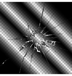 Realistic broken glass transparent vector
