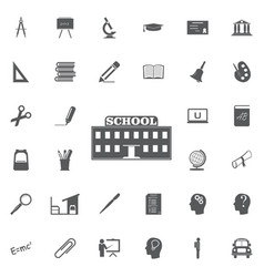 school icon professional pixel perfect icons vector image vector image