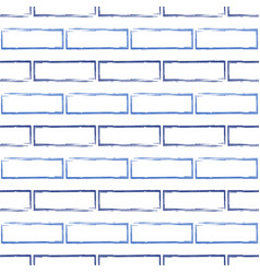 Seamless pattern of stylized blue brick wall vector
