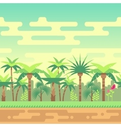 Seamless summer tropical forest nature landscape vector image vector image