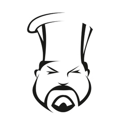 Serious and competent chef vector image