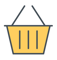 shopping basket pixel perfect line icon 48x48 vector image