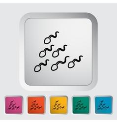 Sperm icon vector