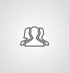 team outline symbol dark on white background logo vector image vector image