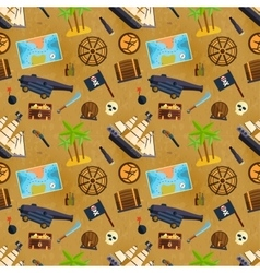 Treasure chest seamless pattern vector image