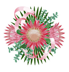 Tropical wedding bouquet vector