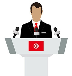 Tunisia flag speaker vector image vector image