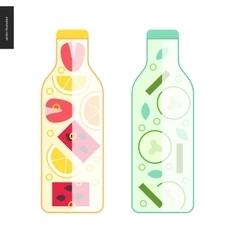 Two bottles of detox water vector image