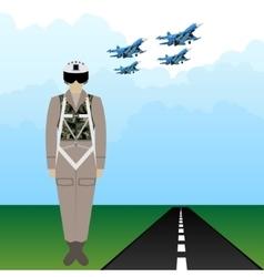 Uniforms Russian military pilot vector image vector image