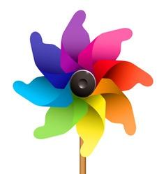 Windmill or pinwheel vector