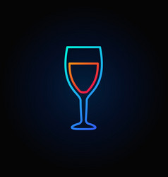 wine glass colorful icon vector image vector image