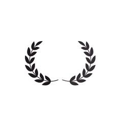 wreath leafs crown icon vector image vector image