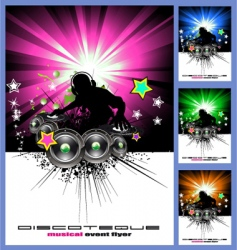Disk jockey music background vector