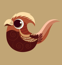 Golden pheasant cute abstract prehistoric color vector