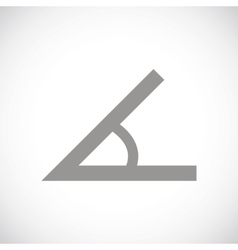 Sign of the angle black icon vector image