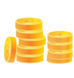 Pile of the gold coins vector