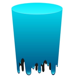 Blue tube melting down vector