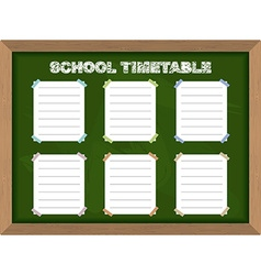 School schedule school timetable stickers on vector