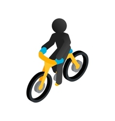 Racing syclist isometric 3d icon vector