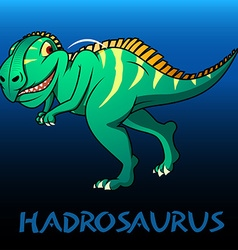 Hadrosaurus cute character dinosaurs vector image