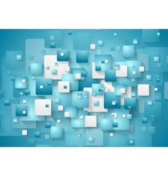 Abstract blue squares background vector image