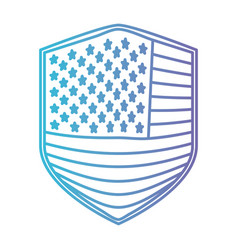 badge of flag united states of america in color vector image vector image