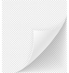 Bent corner of paper stock vector