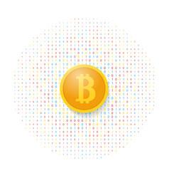 Bitcoin on a digital background vector