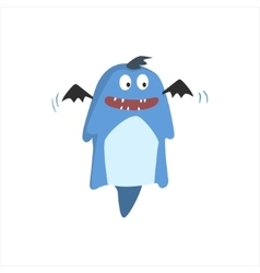 Childish monster with bat wings vector