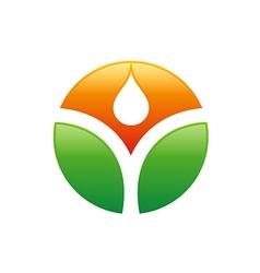 Ecology bio logo vector
