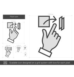 Flick line icon vector