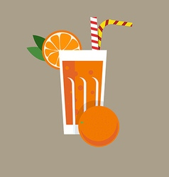 Fresh orange juice drink vector