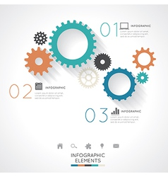 Gear infographics vector