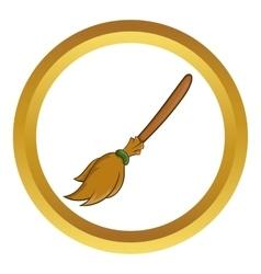 Halloween accessory broom icon vector