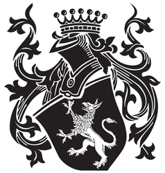 Heraldic silhouette no15 vector