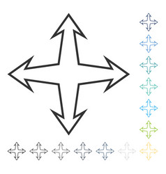 Intersection arrows icon vector