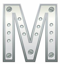 letter m vector image