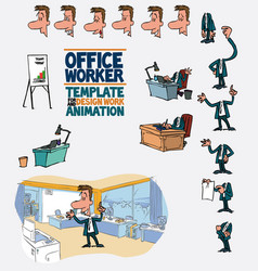 male office worker template character vector image vector image